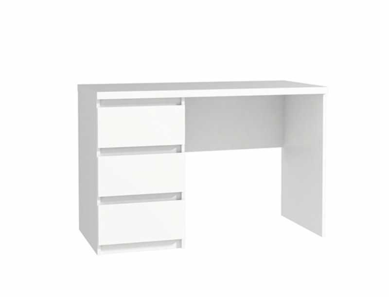 White Desk With 3 Drawers