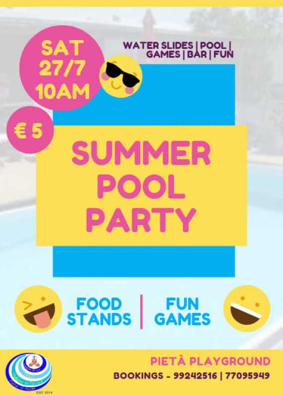 Summer Pool Party For Kids